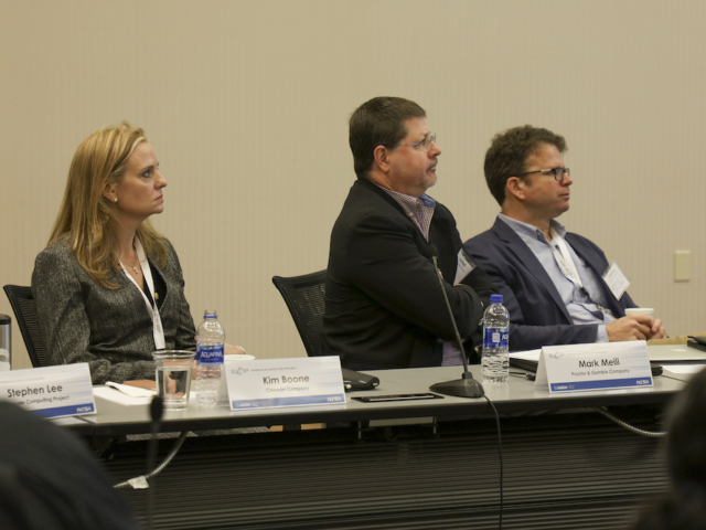 Industry Council Members Kimberly Boone (Chevron Corporation), Mark Meili (P&G), Frank Ham (Cascade Technologies, Incorporated)