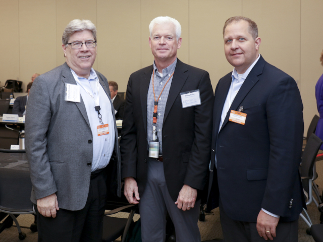 From left, Inaugural Industry Council Chair Michael McQuade (United Technologies Corporation), ECP Director Doug Kothe, and Current Chair Dave Kepczynski (General Electric)