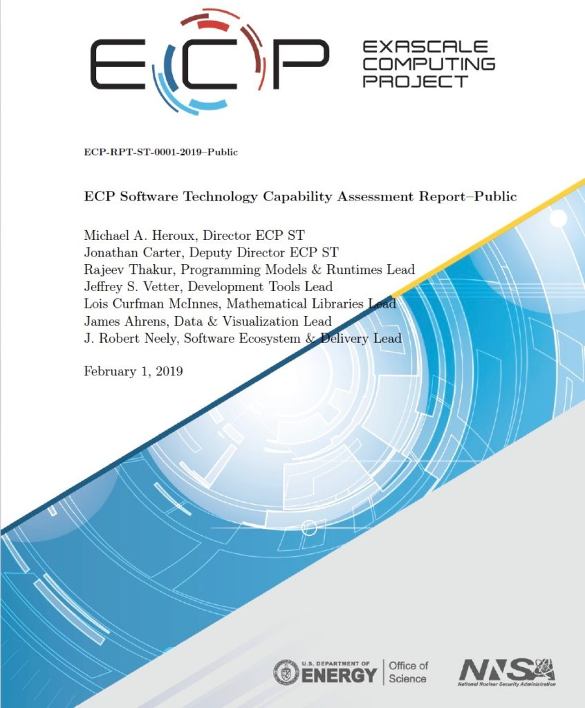 Exascale Computing Project Software Technology Capability Assessment Report version 1.5