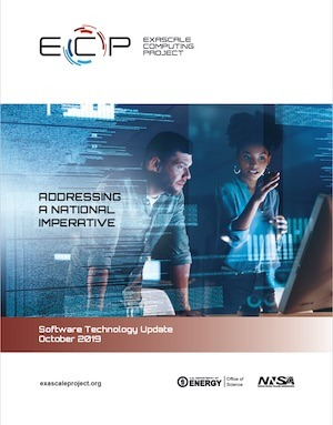 Exascale Computing Project Software Technology Update report cover October 2019