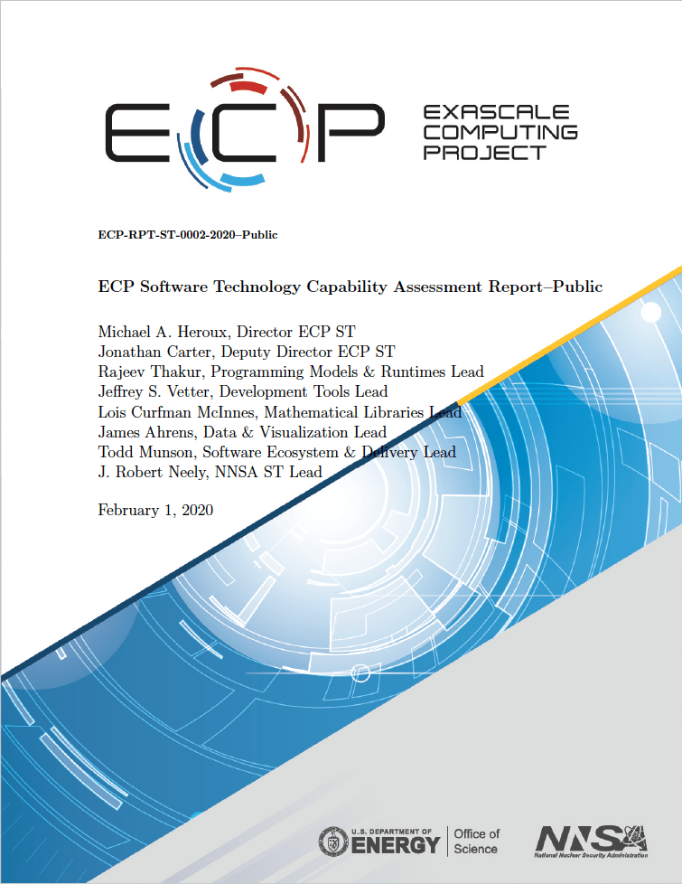 Cover image of ECP Software Technology Capability Assessment Report V2.0—Public