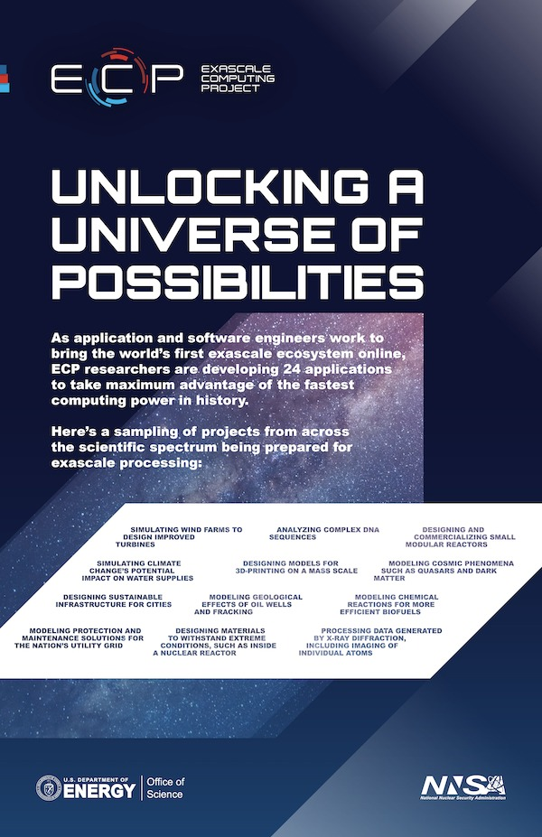 Unlocking a universe of possibilities with exascale computing