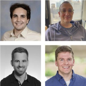 Clockwise from top left: Nicholas Frontiere, Steve Rangel, Michael Buehlmann, and JD Emberson of Argonne National Laboratory